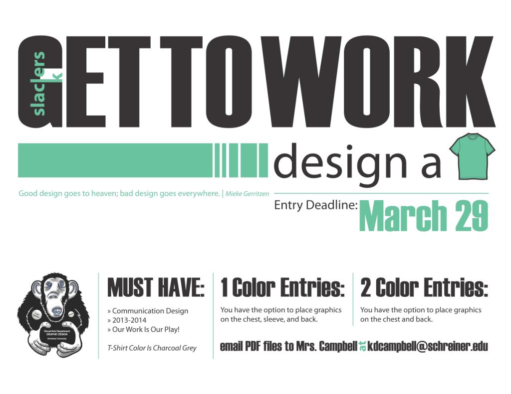 Major s t shirt design contest schreiner university bfa for T shirt design contest flyer