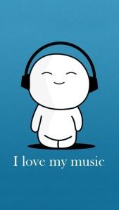 I love my music cartoon
